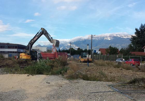 Eden Parc : démarrage des travaux de terrassement